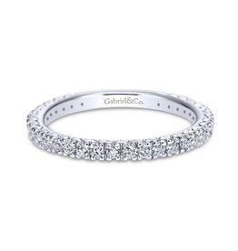 Gabriel & Co Gabriel & Co 14K White Gold (0.45ct) Diamond Wedding Band
