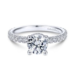 Gabriel & Co ALINA 14k White Gold Round Straight