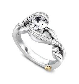 Mark Schneider Mark Schneider Zeal 14K White Gold Diamond Semi Mount Engagement Ring