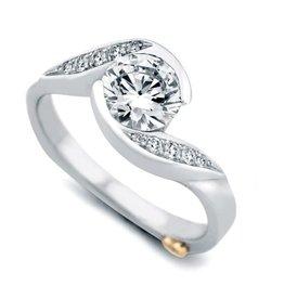 Mark Schneider Mark Schneider White Gold Whirlwind Diamond Mount Ring