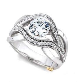 Mark Schneider Mark Schneider Sublime 14K White Gold Diamond Semi Mount Engagement Ring