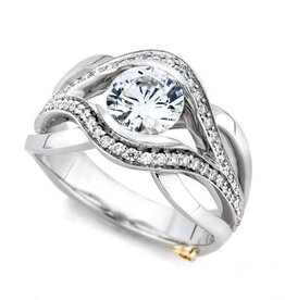 Mark Schneider Mark Schneider White Gold Sublime Diamond Mount Ring