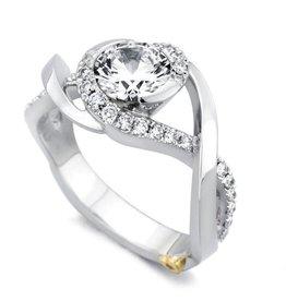 Mark Schneider Mark Schneider Scintillate 14K White Gold Diamond Semi Mount Engagement Ring