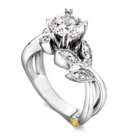 Mark Schneider Mark Schneider White Gold Mystic Diamond Mount Ring