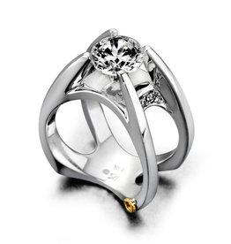 Mark Schneider Mark Schneider Moonglow 14K White Gold Diamond Semi Mount Engagement Ring