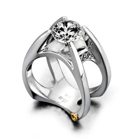 Mark Schneider Mark Schneider White Gold Moonglow Diamond Mount Ring