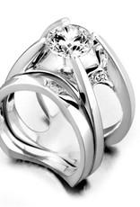 Mark Schneider Mark Schneider White Gold Moonglow Diamond Mount Ring