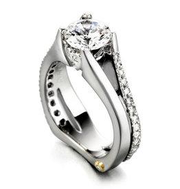 Mark Schneider Mark Schneider Gleam 14K White Gold Diamond Semi Mount Engagement Ring