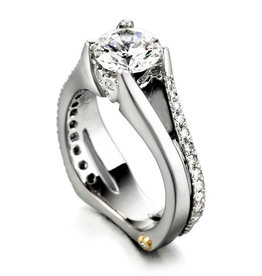 Mark Schneider Mark Schneider White Gold Gleam Diamond Mount Ring