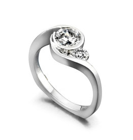 Mark Schneider Mark Schneider White Gold Escape Diamond Mount Ring