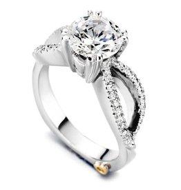 Mark Schneider Mark Schneider Dazzling 14K White Gold Diamond Semi Mount Engagement Ring