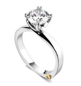 Mark Schneider Mark Schneider Beloved 14K White Gold Solitare Diamond Semi Mount Engagement Ring