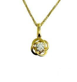 Canadian Diamond Pendant 14K Yellow Gold