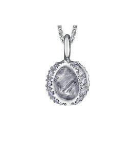 Maple Leaf Diamonds Oval Rough Cut Canadian Diamond Pendant (1.25ct)