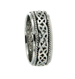 Keith Jack Ederline 10K White Gold Celtic Ring
