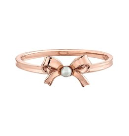 10K Rose Gold Pearl Bow Ring
