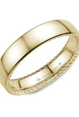 Crown Ring 10K Yellow Gold 5mm Rope Wedding Band