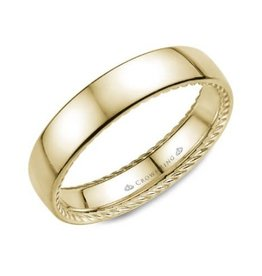 Crown Ring 10K Yellow Gold 5mm Rope Wedding Band