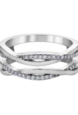 10K White Gold (0.15ct) Diamond Ring Jacket / Enhancer