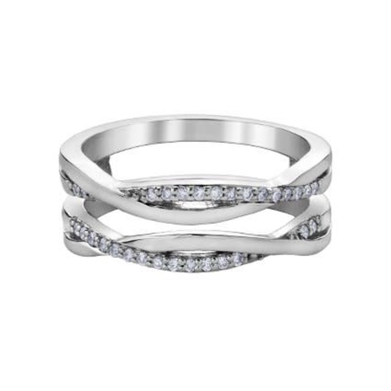 10K White Gold Diamond (0.15ct) Ring Enhancer