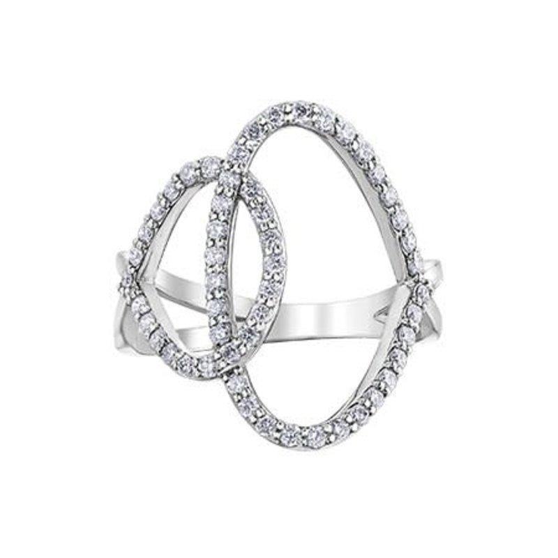 10K White Gold Diamond (0.50ct) Ring