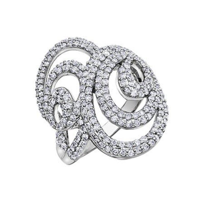 10K White Gold Diamond (1.25ct) Ring