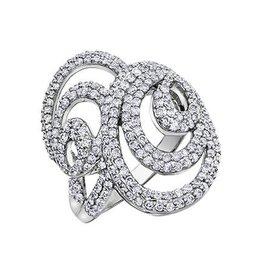 10K White Gold 1.00 Carat Diamond Ring