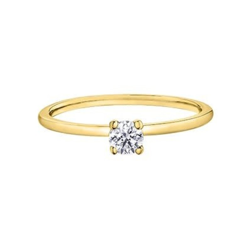 Canadian Diamond (0.20ct) Yellow Gold Solitare Ring AM447Y20-02