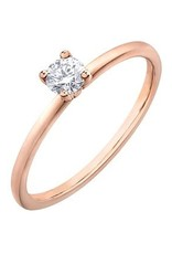 I am Canadian Canadian Diamond (0.20ct) Solitare Rose Gold Ring
