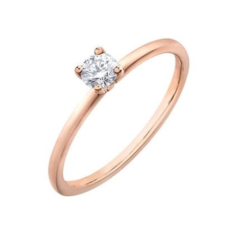 I am Canadian 10K Rose Gold (0.20ct) Canadian Diamond Solitaire Promise Ring