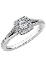 I am Canadian Halo White Gold (0.30ct) Canadian Diamond Engagement Ring