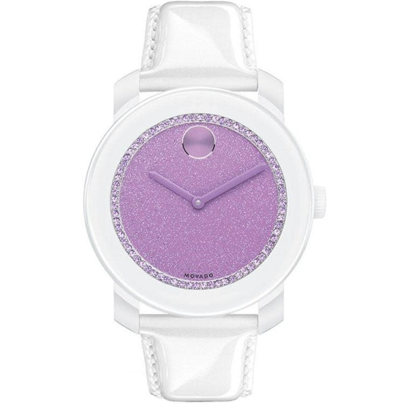 Movado Movado Bold Ladies White and Purple Dial Watch