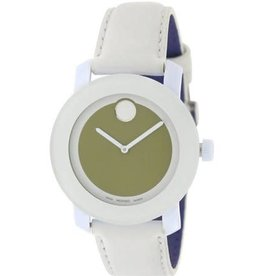 Movado Movado Bold Ladies White Watch with Olive Dial 3600051