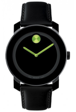 Movado Movado Bold Black Dial with Green Hands 3600004