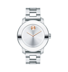 Movado Movado Bold Silver Dial with Pink Hands 3600084