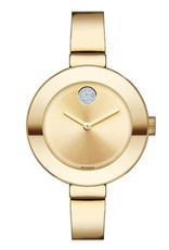 Movado Bold Gold tone with Gemstone Sunray Dot