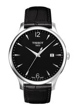 Tissot Tissot Tradition Mens Black Dial Watch with Black Strap T0636101605700