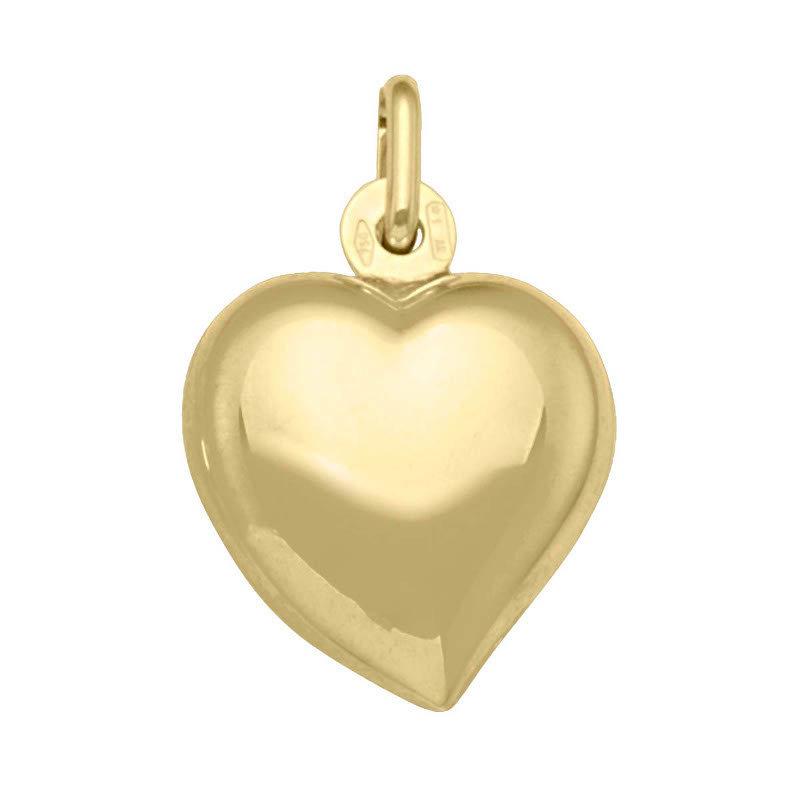 10K Yellow Gold Puffed Heart (14mm)
