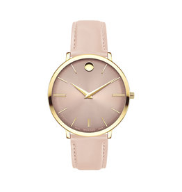 Movado Movado Ultra Slim Ladies Sandy Pink Dial and Pink Strap