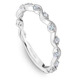 Noam Carver 14k White Gold Diamond Stackable Band