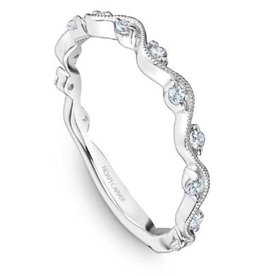 Noam Carver Noam Carver 14k White Gold Diamond Stackable Band