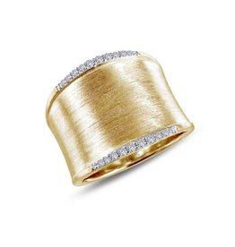 Lafonn Lafonn Wide Band Simulated Diamond Gold Plated Ladies Ring
