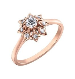 I am Canadian Rose Gold Floral (0.26ct) Canadian Diamond Ladies Ring