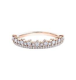 10K Rose Gold (0.50ct) Diamond Stackable Wedding Band