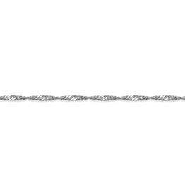 "10K White Gold (1.5mm) Singapore (16"" - 24"") Chains"