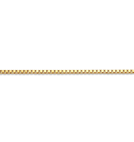 Yellow Gold (16 - 24in) Box Chains 1.2mm