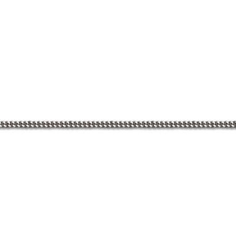 10K White Gold (1.3mm) Curb Baby Chain 14""