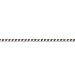 """Curb-W (1.5mm) 14"""" White Gold Chain"""