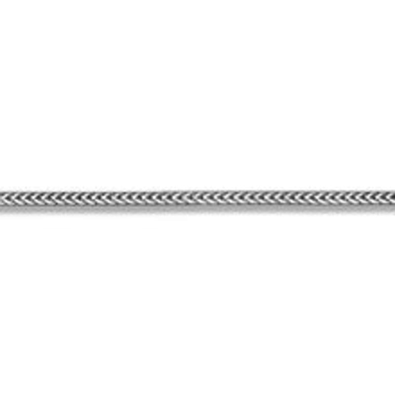"""10K White Gold (1.0mm) Franco Chain (16"""" - 24"""")"""