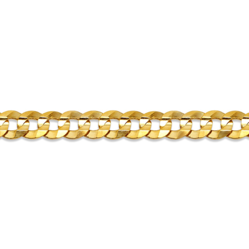 """10K Yellow Gold (5mm) Curb Chain (20 - 24"""")"""